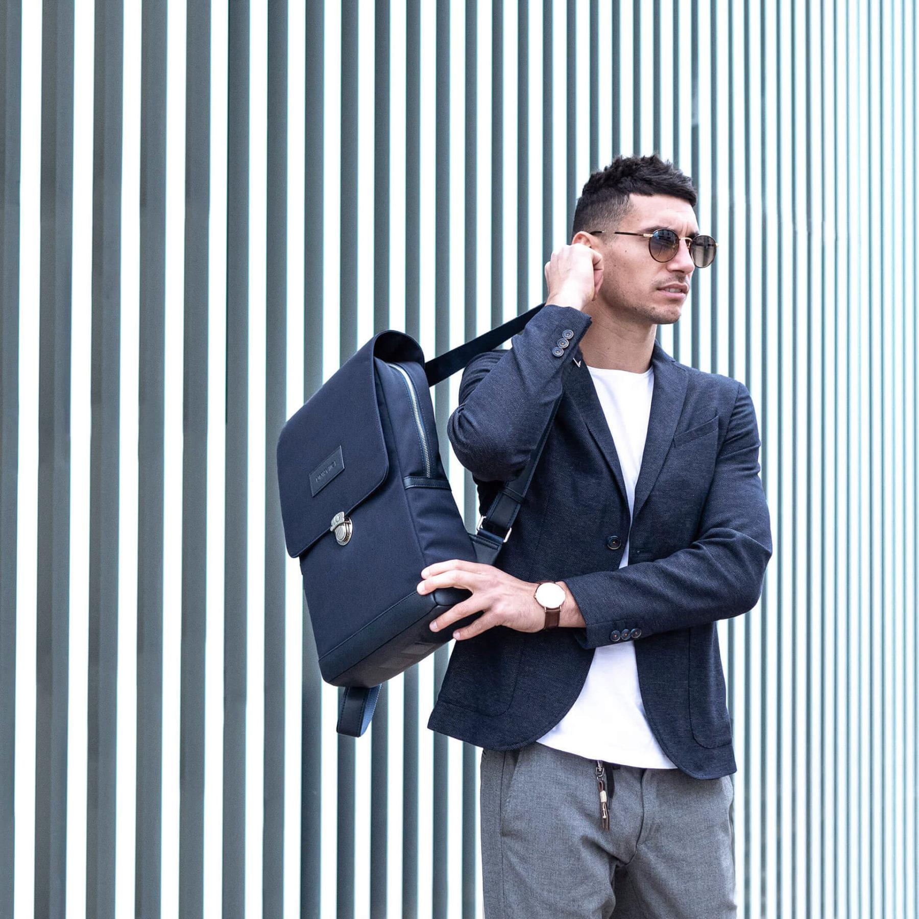 UNI:VIICI   sac à dos nylon professionnel classe equilo bleu22   EQUILO BLEU NAVY